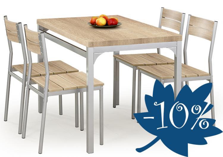 Malcolm étkezőasztal 4 székkel